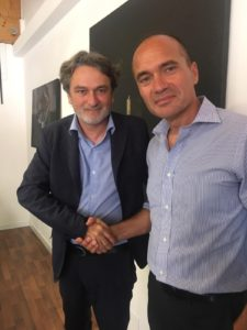 Alberto Baban, presidente di VeNetWork, con Franco Contu, co-founder e chief operating officer di Sardex